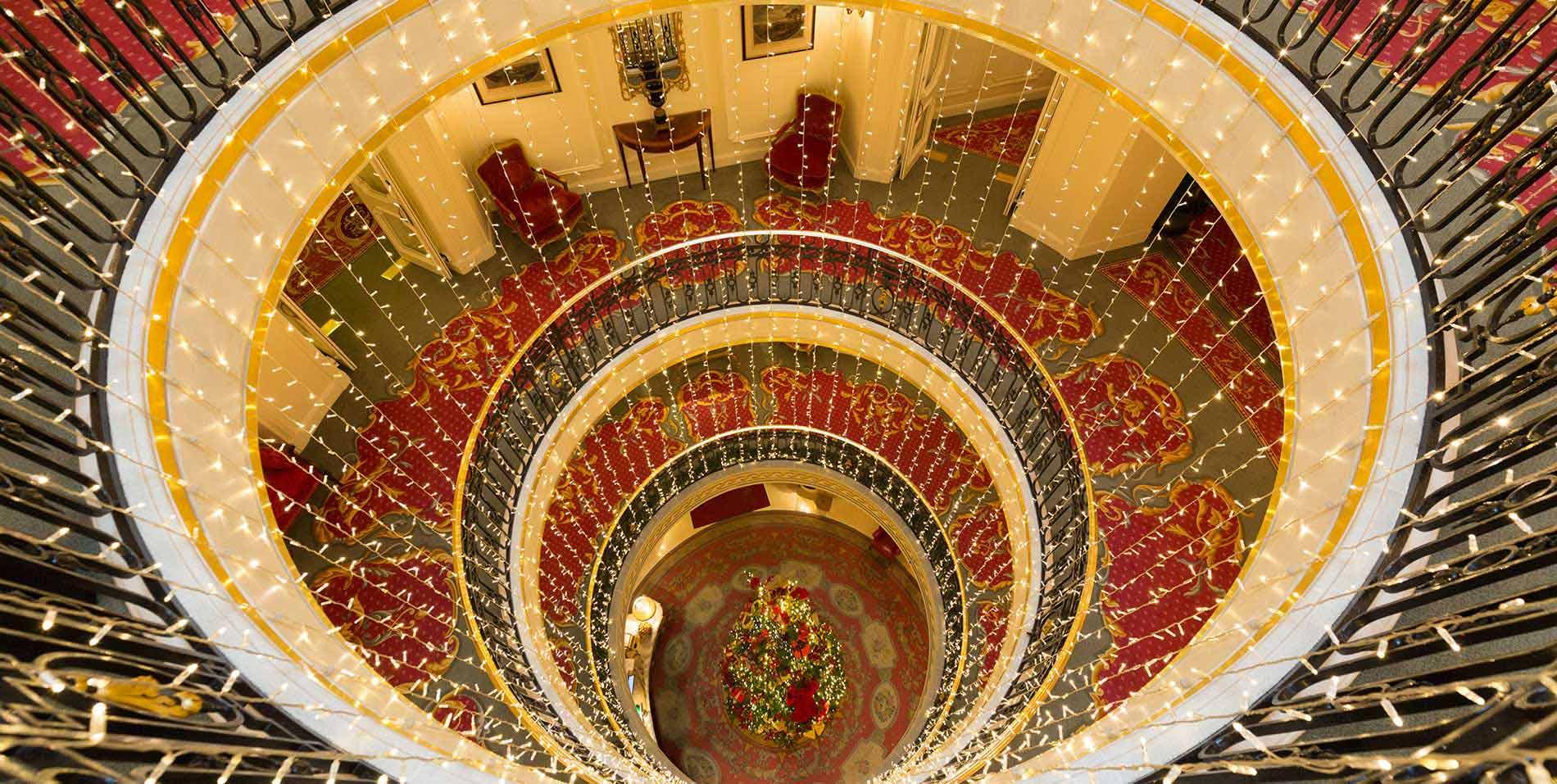 Rotunda Christmas lights
