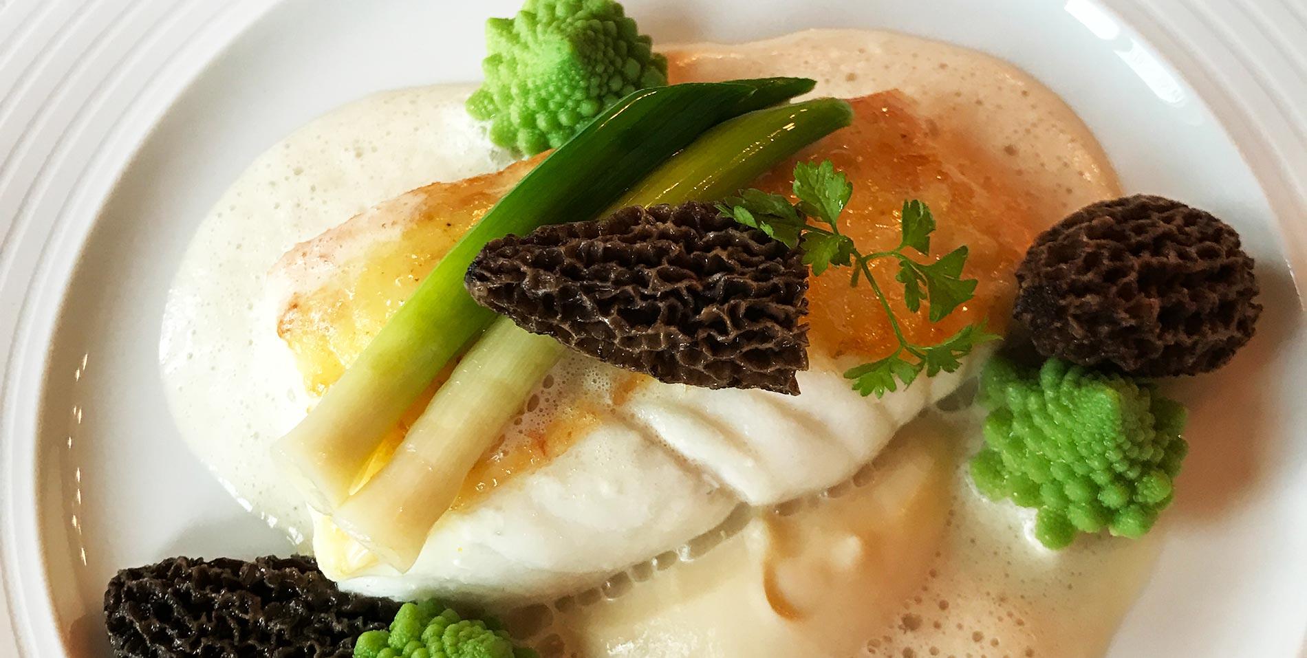 Fish dish in Ritz Restaurant