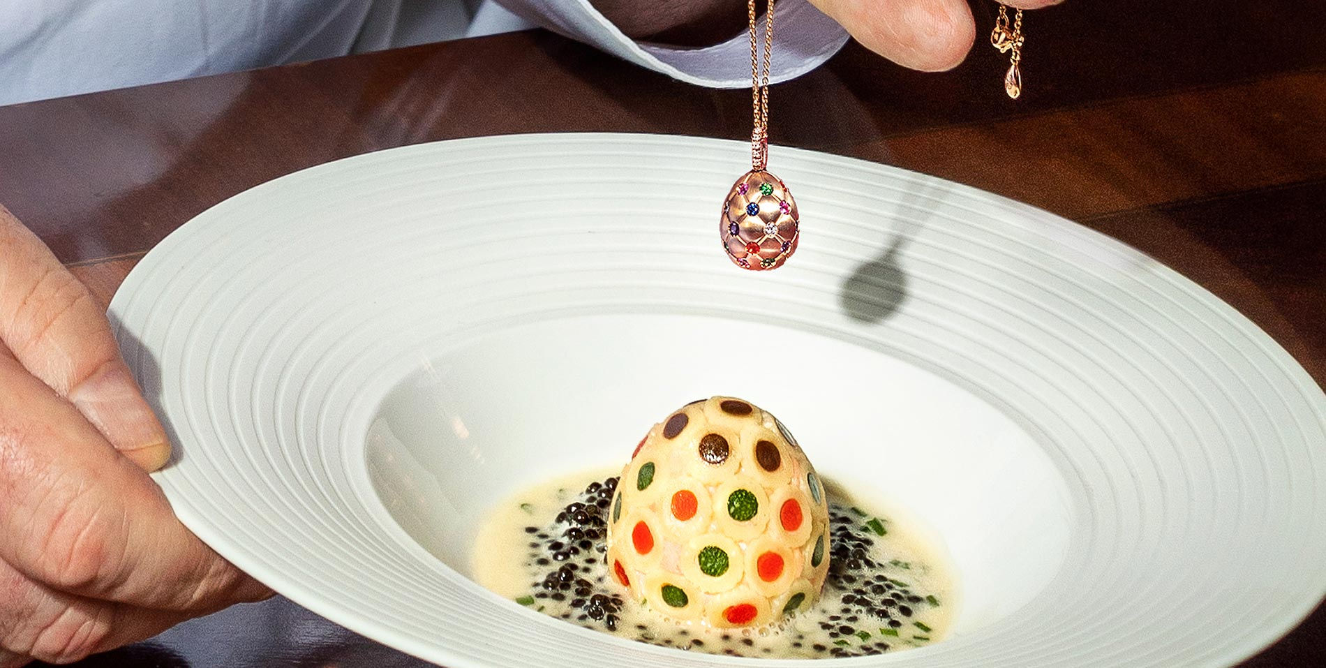 Fabergé and Ritz egg dish